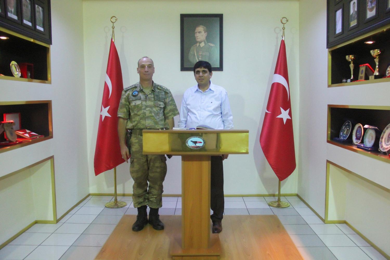 Rektör Alma, Iğdır 5. Hudut Alay Komutanı P. Albay H. Bahadır Öztürk'ü Ziyaret Etti