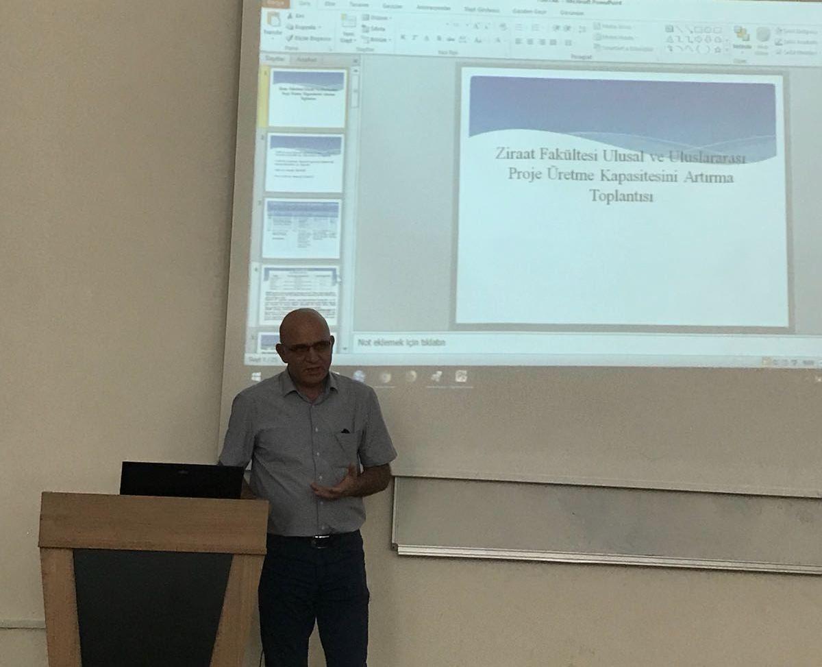 Üniversitemizde Ulusal ve Uluslararası Proje Üretme İle İlgili Toplantı Yapıldı