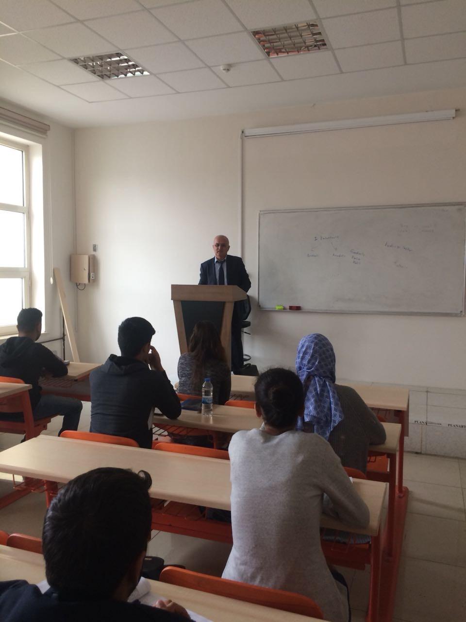 Azeri Öğretim Üyesi Azad Bayramov, Üniversitemizde Misafir Edildi