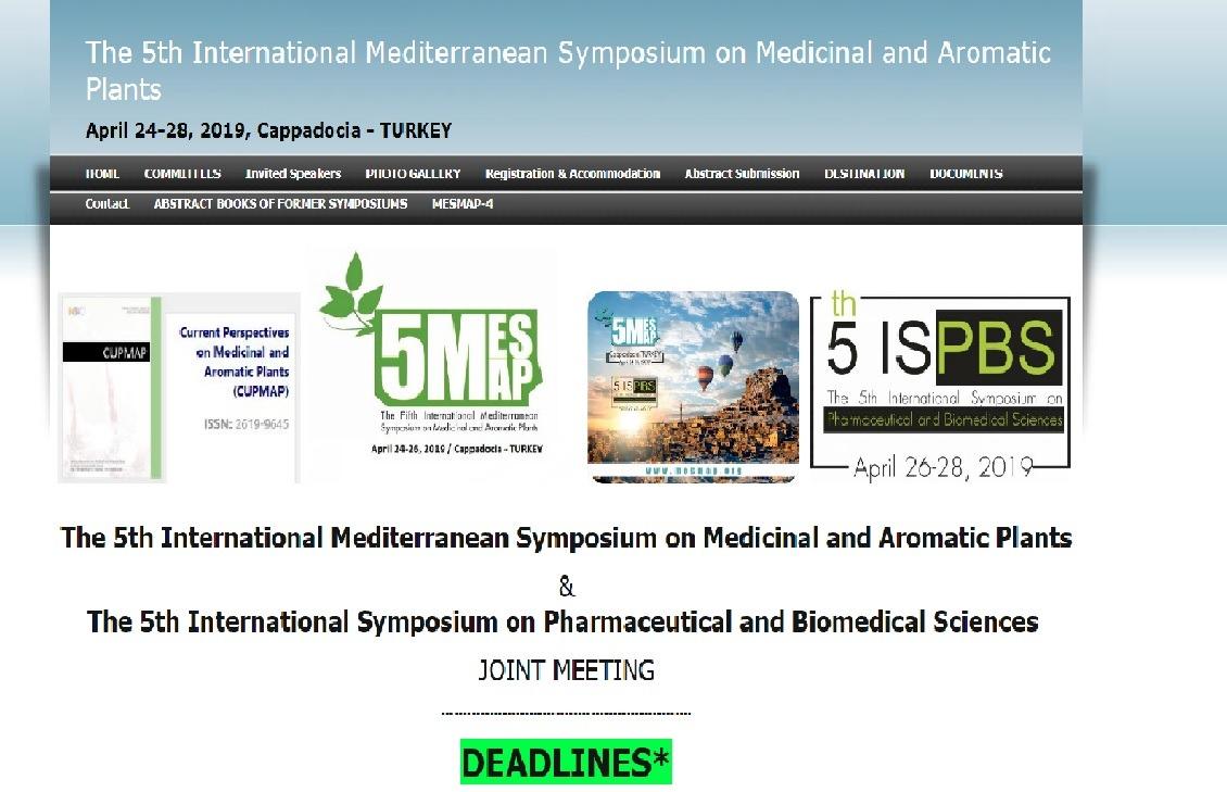 Üniversitemizin de Ortağı Olduğu 5'inci Uluslararası Akdeniz Tıbbi ve Aromatik Bitkiler Sempozyumu Kapadokya'da Gerçekleşecek