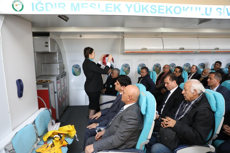 Üniversitemizde Uçak Kabin Simülasyon (Mock-Up) Sınıfı Açıldı