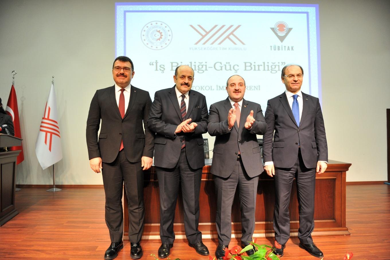 YÖK, Sanayi ve Teknoloji Bakanlığı ile TÜBİTAK'tan İşbirliği