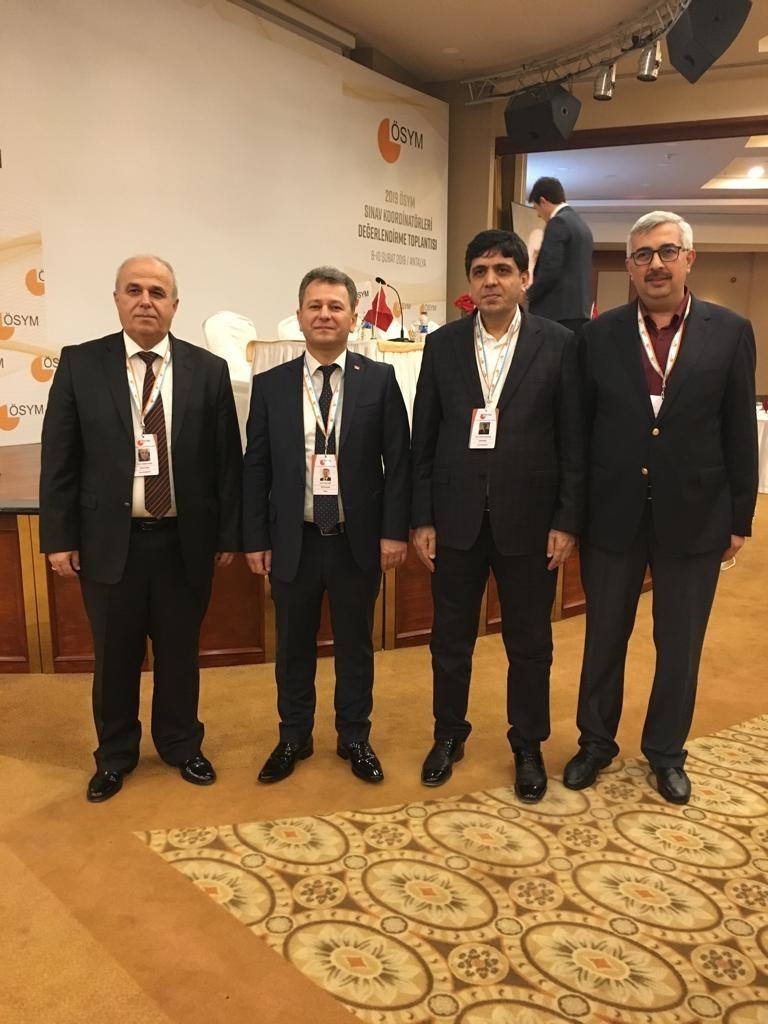 """Rektör Alma, """"2019 ÖSYM Sınav Koordinatörleri Değerlendirme Toplantısına"""" Katıldı"""