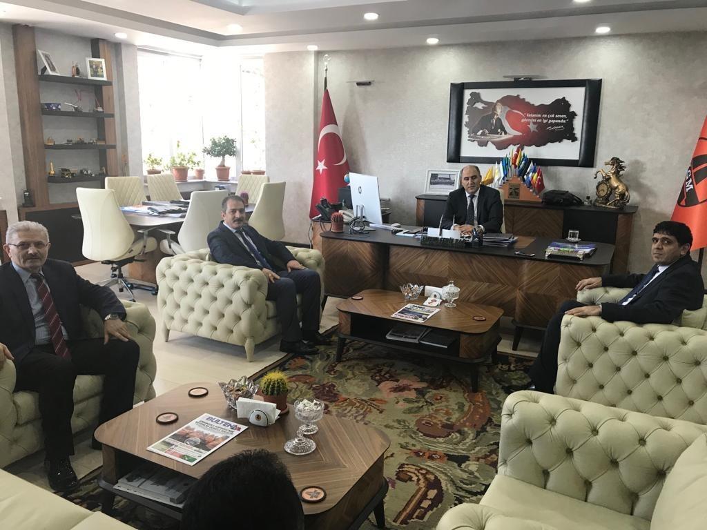 Rektör Alma, Karayolları Erzurum Bölge Müdürü Enver Şeref Bağ'ı Ziyaret etti