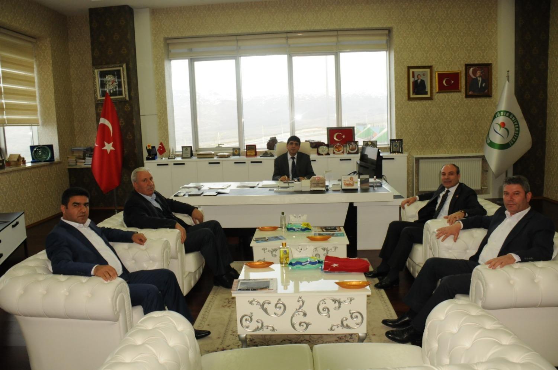 15 Temmuz Demokrasi Şehitleri, Gazileri ve Terör Mağdurları Derneği'nden Rektör Alma'ya Ziyaret