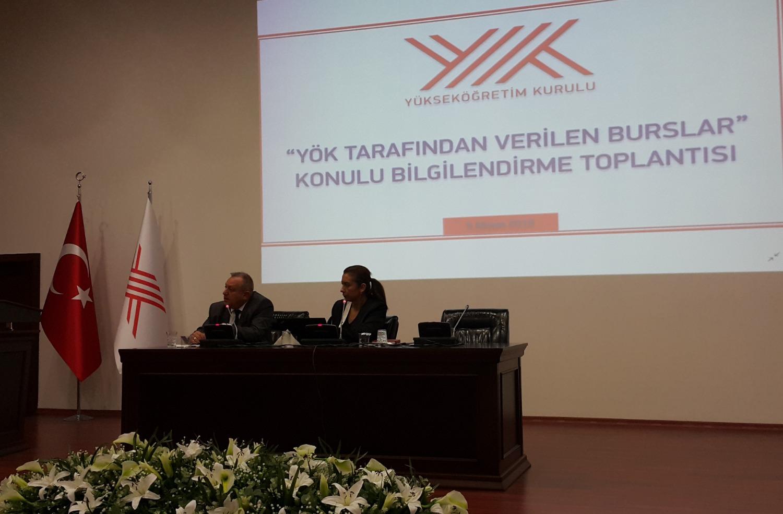 """""""YÖK TARAFINDAN VERİLEN BURSLAR"""" Konulu Bilgilendirme Toplantısı Gerçekleştirildi"""