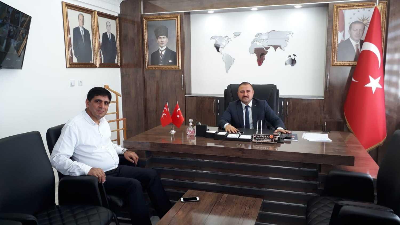 """Rektör Alma'dan Başkan Coşar'a """"Hayırlı Olsun"""" Ziyareti"""