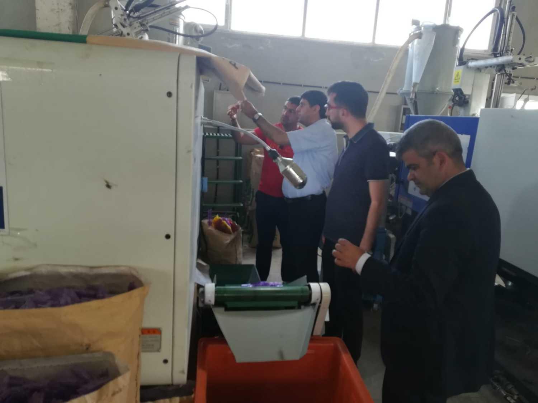 Rektör Alma, Koko Çakmak Fabrikasında İncelemelerde Bulundu