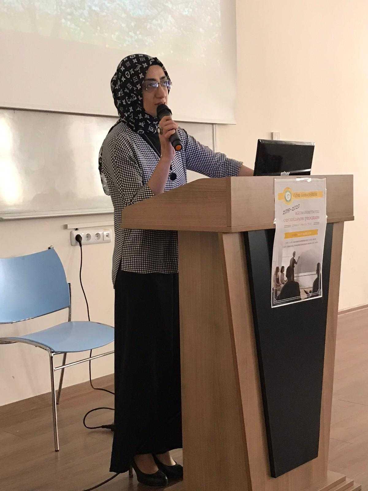 Iğdır Üniversitesi Fen-Edebiyat Fakültesi,  2019-2020 Güz Dönemi Eğitim Öğretim Yılı Oryantasyon programı