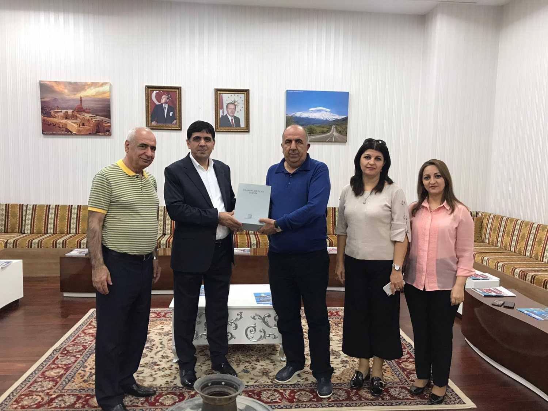 Azerbaycan Neft-Kimya Prosesleri Enstitüsü'nden Rektör Alma'ya İade-i Ziyaret