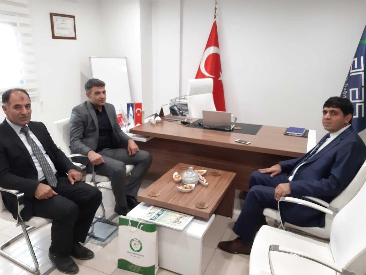 Rektör Alma'dan Aras Elektrik Iğdır İl Koordinatörü Özkan Kılıç'a Hayırlı Olsun Ziyareti