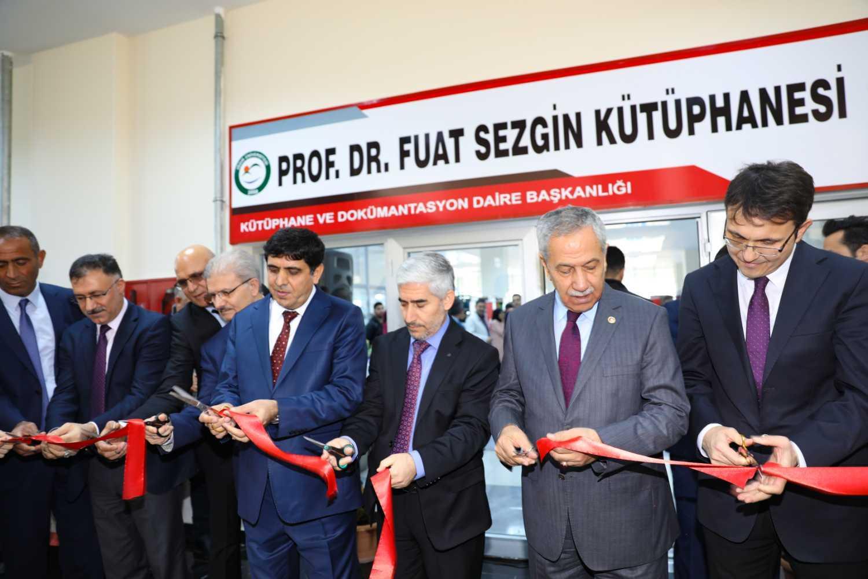 Üniversitemiz Prof. Dr. Fuat Sezgin Kütüphanesi Törenle Açıldı