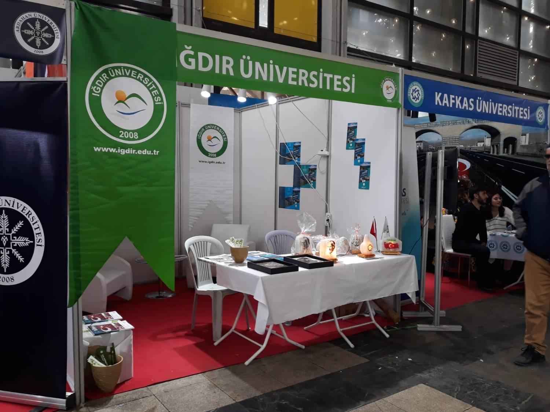 """Iğdır Üniversitesi """"Kars-Ardahan-Iğdır Tanıtım Günlerinde"""" Stant Açtı"""
