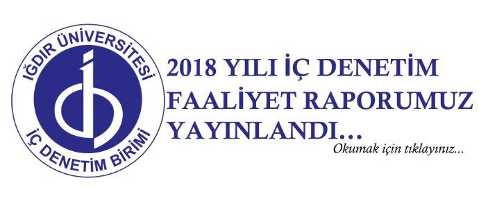 2018 Yılı İç Denetim Faaliyet Raporumuz Yayınlandı