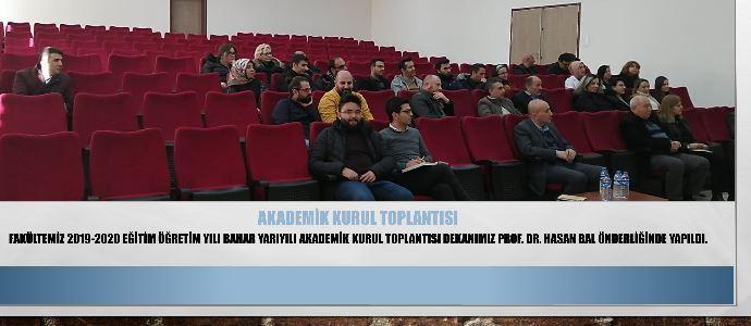 Akademik Kurul Toplantısı