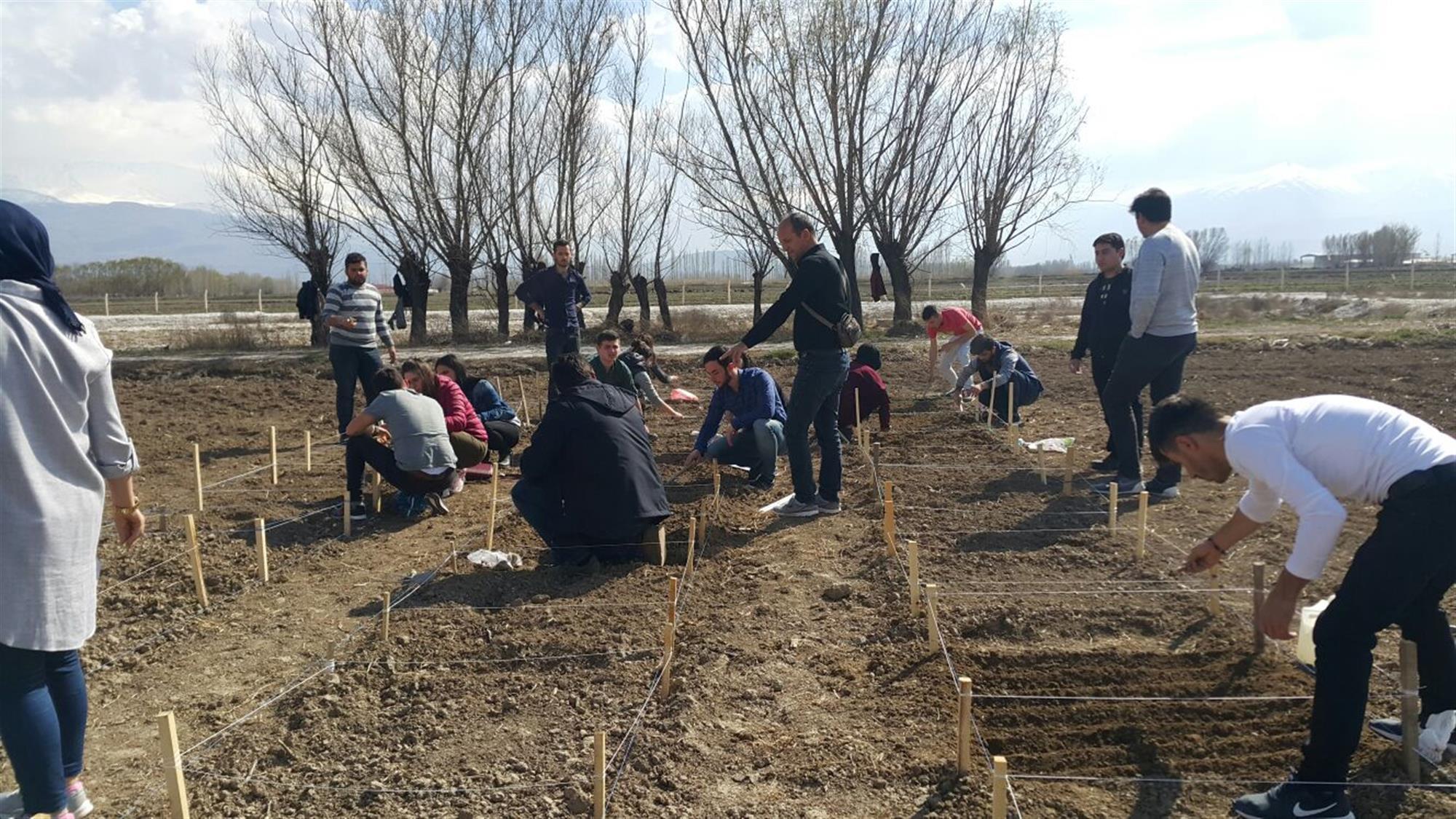 Tarımsal Uygulama ve Araştırma Merkez Sahasında Lisans Öğrencilerimizin Yılın İlk Ekimi Proje Çalışması