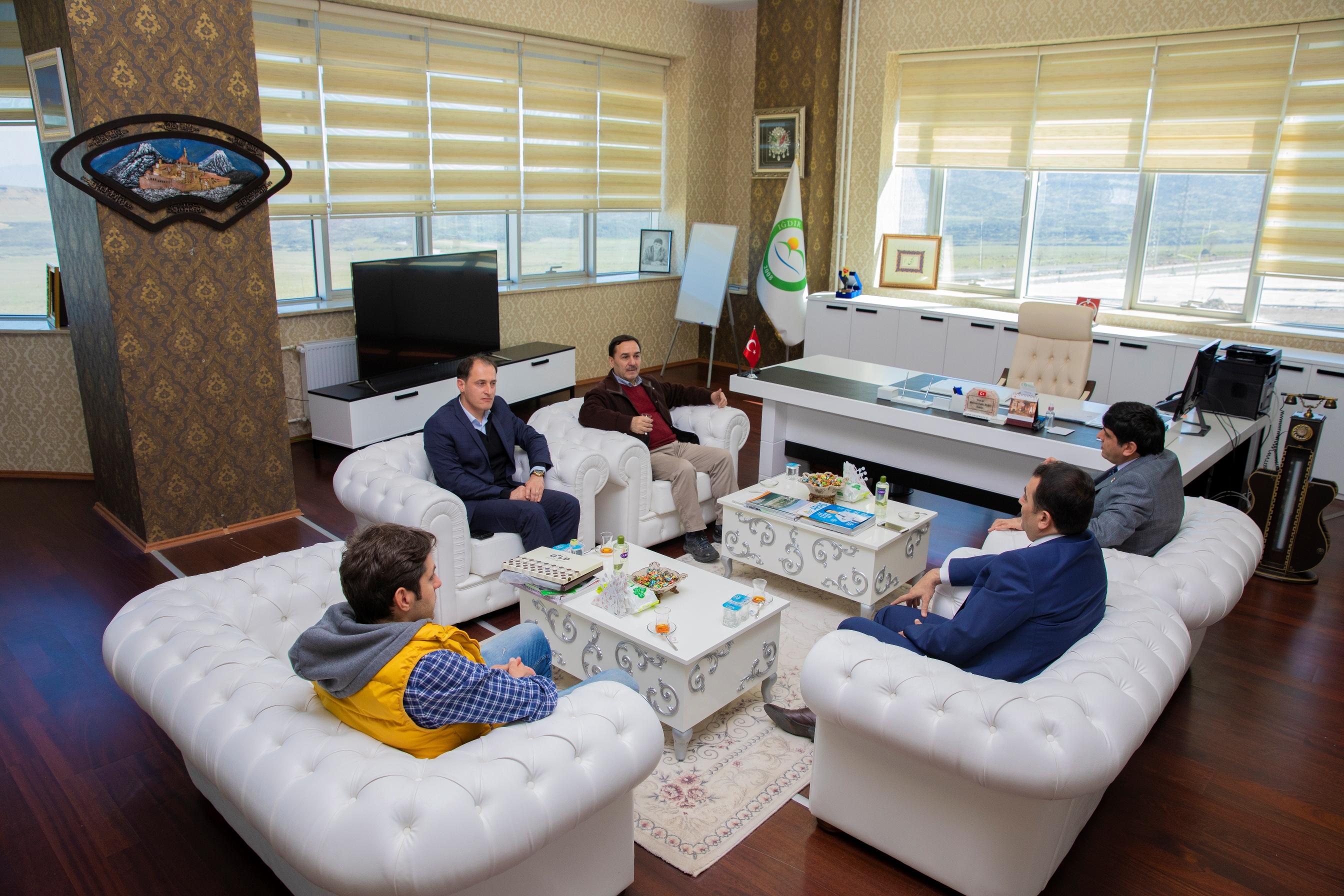 Orman ve Su İşleri Bakanlık Müşaviri  ve Daire Başkanından Rektör Alma'ya Ziyaret