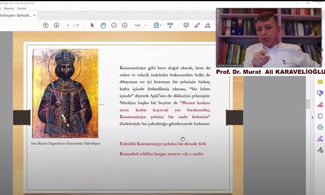 """""""Edebiyatın Tarihselliği"""" Başlıklı Webinar Düzenlendi"""