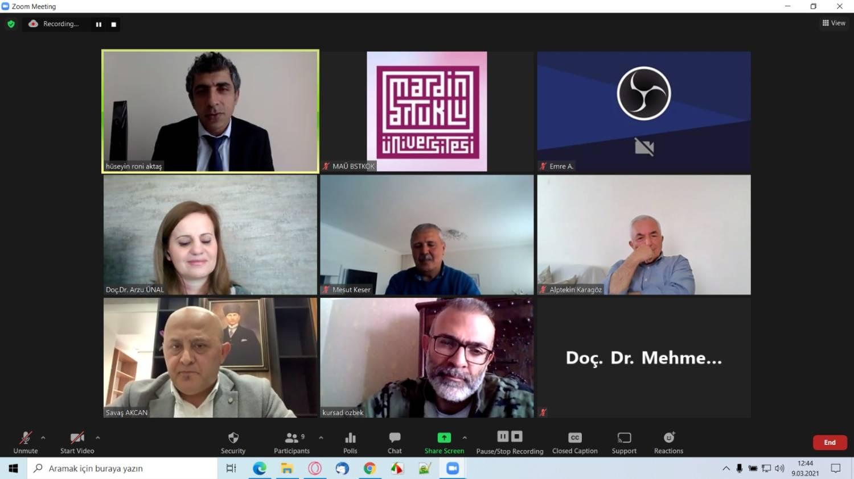 Bölüm Başkanımız Doç. Dr. Arzu ÜNAL Çalıştay'a katıldı