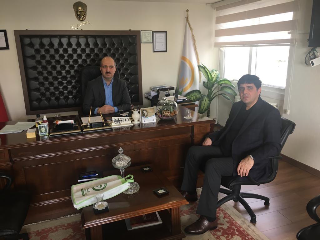 Rektör Alma Mersin Zirai Karantina Müdürü Abdülkerim Çiçek'i Ziyaret etti