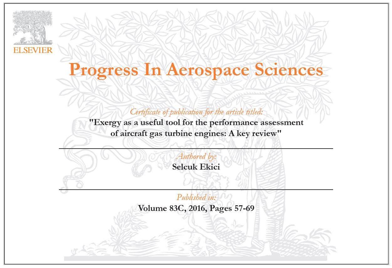 Havacılık Yönetimi Bölüm Başkanı Dr. Ekici Elsevier grubu tarafından ödüllendirildi