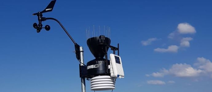 ÇEVMER Kampüs İçi Meteoroloji İstasyonunu Kurdu
